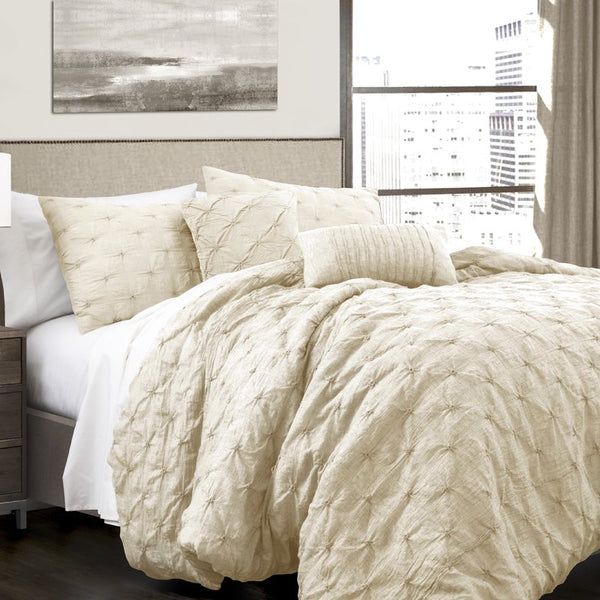CoCo Luxury Pintuck 5PC Comforter Set - GoGetGlam Boho Style