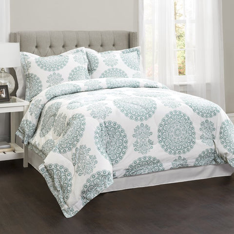 Evan 4PC Cotton Boho Damask Comforter Set-GoGetGlam