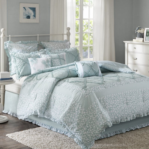 Stephanie Country Cotton Floral 9PC Comforter Set-GoGetGlam