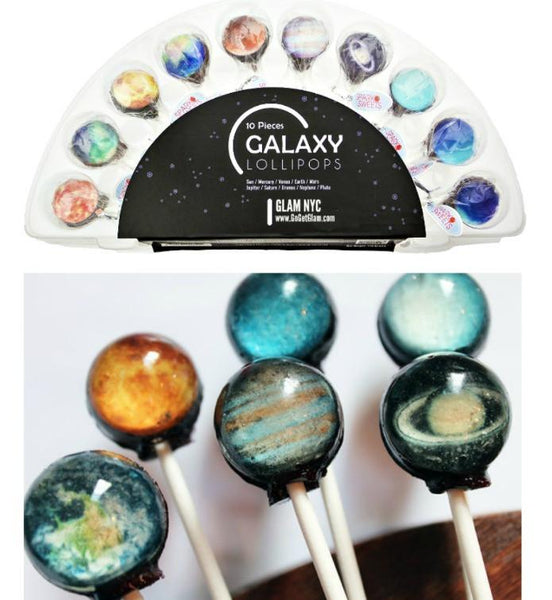 SET of 10 Galaxy Planets Universe Gourmet Lollipops-GoGetGlam