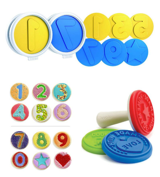 Set of 12 Number Fun Cookie Cutters Press-GoGetGlam