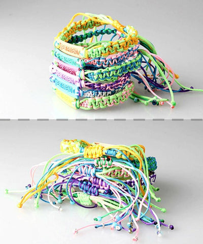 Set of 2 BFF Best Friends String Bracelets - GoGetGlam Boho Style
