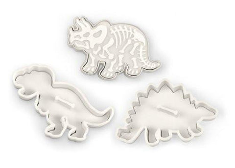 Set of 3 Dinosaur Cookie Cutter Stamp - Boho Bohemian Decor