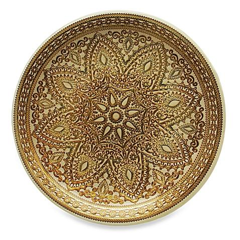 Set of 4 Gold Glass Charger Plates - Boho Bohemian Decor