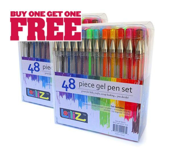 Set of 48 GEL PENS For Adult Coloring Books-GoGetGlam