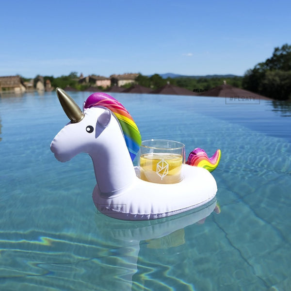 Set of 6 Unicorn Floating Drink Holders-GoGetGlam