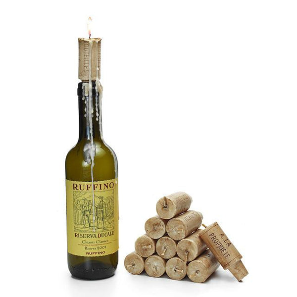 Set of (6) Wax Wine Cork Candles-GoGetGlam