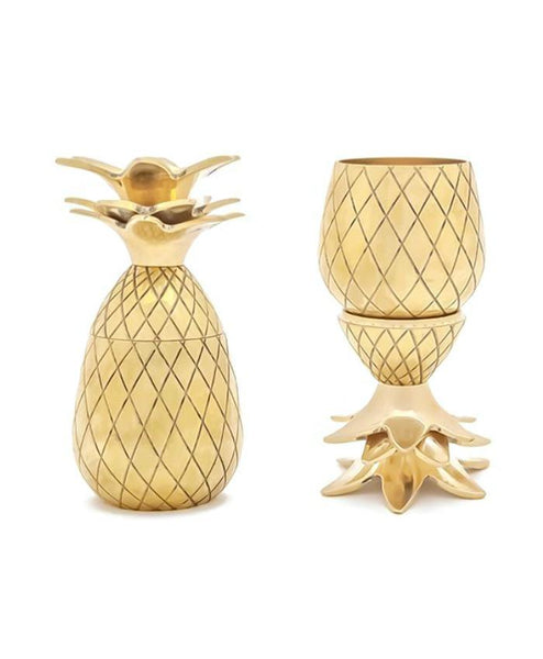 Silver Copper or Gold Pineapple Shot Glass Set of 2-GoGetGlam