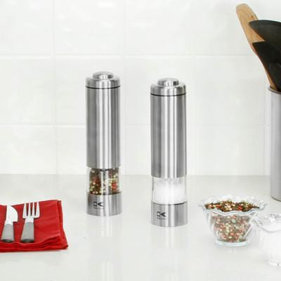 Sleek LED Stainless Salt & Pepper Shaker SET-GoGetGlam
