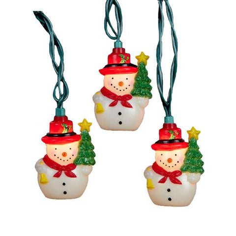 Snowman with Tree Set of 10 String Lights-GoGetGlam