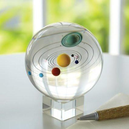 Solar System Space Astronomy Crystal Ball with Stand - GoGetGlam Boho Style