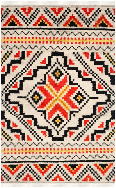 South to Southwest Hand-woven Multicolored Wool Rug-GoGetGlam