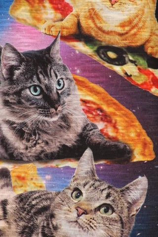 Space Cat Pizza Party Tank Top - GoGetGlam Boho Style