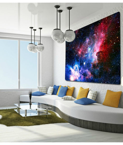 Space Galaxy Fabric Wall Tapestry - GoGetGlam Boho Style