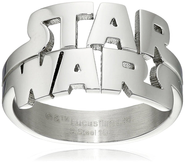 Star Wars Jewelry Men's Cut Out Logo Stainless Steel Ring - Boho Bohemian Decor
