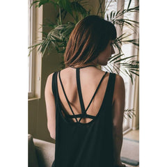 Strappy Lace Bar Back Bralette-GoGetGlam