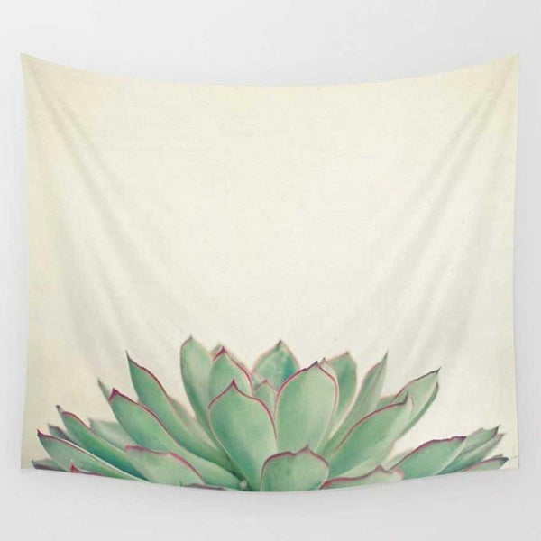 Succulent Silhouette Wall Art Tapestry-GoGetGlam