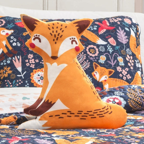 Such A Fox 4PC Quilt Blue Bedding SET-GoGetGlam