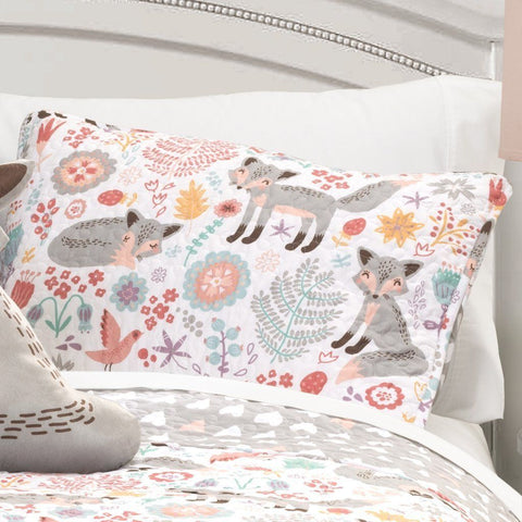 Such A Fox 4PC Quilt Pink Bedding SET-GoGetGlam