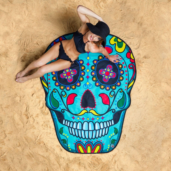 Sugar Skull Giant Beach Blanket-GoGetGlam