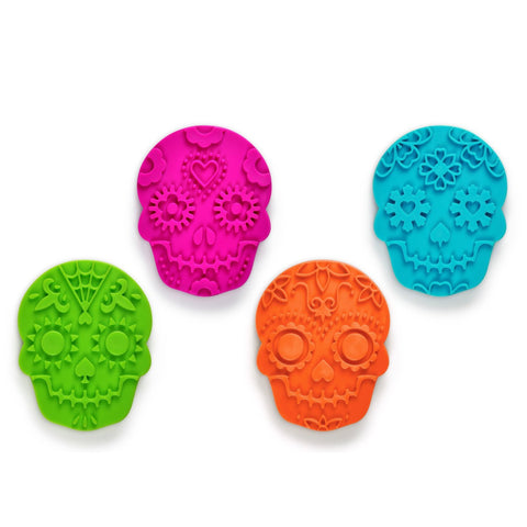 Sugar Skull Mardi Gras Cookie Cutter SET - Boho Bohemian Decor