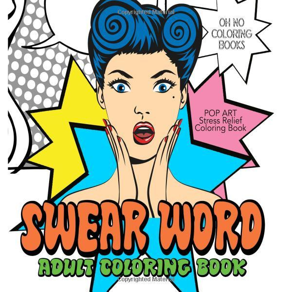 Swear Word Adult Coloring Book: Retro Pop Art - Stress Relief-GoGetGlam