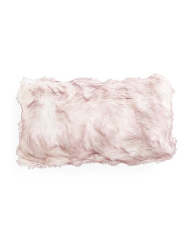 TAHARI Beige Faux Fur Oversized Throw Pillow - GoGetGlam Boho Style