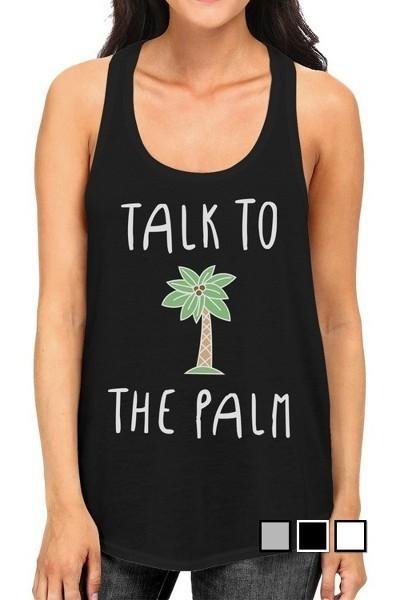 Talk To The Palm Tank Top-GoGetGlam