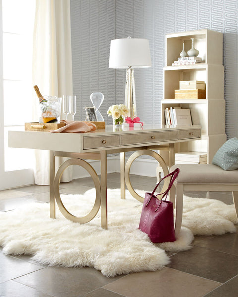 The Arianna Swirl Base Writing Desk - GoGetGlam Boho Style