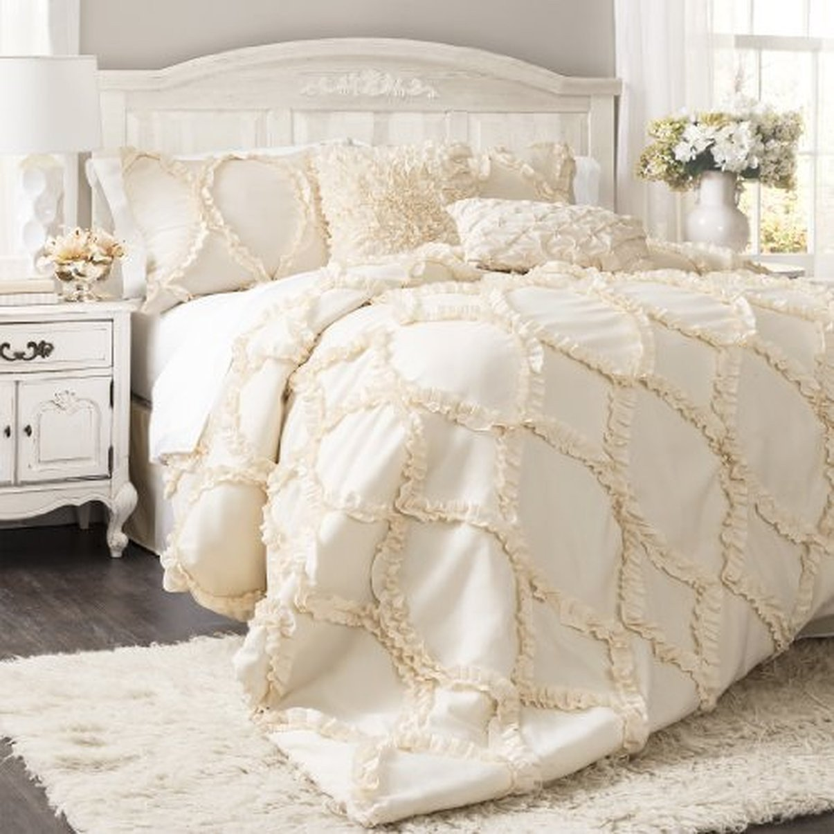the avery hotel collection ruffle comforter bedding set – gogetglam
