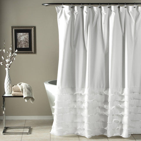 The Coco Tier Ruffle Shower Curtain-GoGetGlam