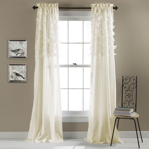 The Coco Tier Ruffle Window Curtain Panel SET-GoGetGlam