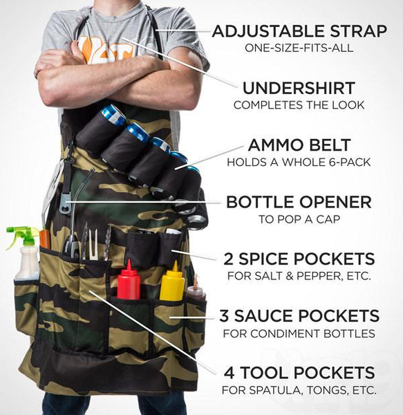 The Grill Sergeant BBQ Apron-GoGetGlam