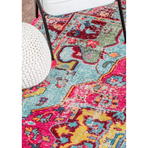 The Luella Boho Pink Pattern Area Rug-GoGetGlam
