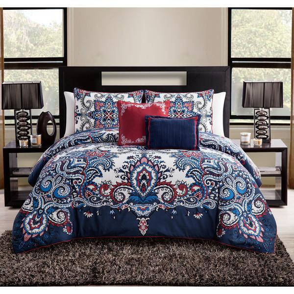 The Marnie Boho Bohemian Moroccan 5 PC Bedding SET-GoGetGlam