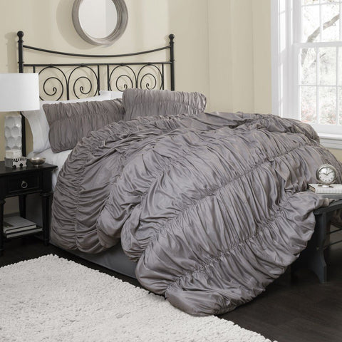 The Valencia Romantic Ruched Pleat Comforter Bedding SET-GoGetGlam