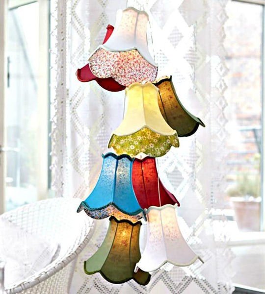 Throw Some Shade Multi Lampshade Ceiling Pendant Light - Boho Bohemian Decor