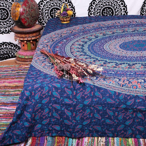 Tiadessa Magical Thinking Blue Large Wall Boho Bohemian Tapestry-GoGetGlam