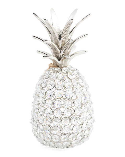 Designer Crystal Bling Gold or Silver Pineapple - Boho Bohemian Decor