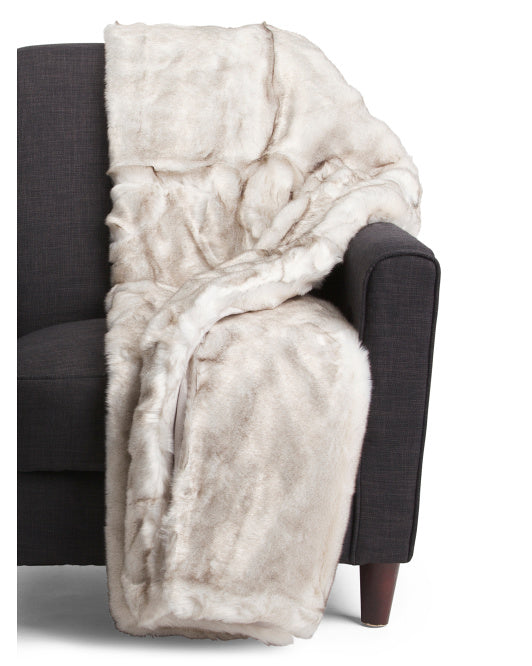Deluxe Brand Luxury Faux Fur Throw Blanket - GoGetGlam Boho Style