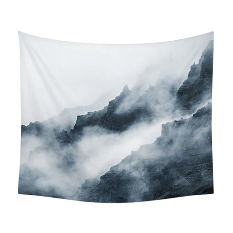 Top of The Mountain Clouds Wall Tapestry-GoGetGlam