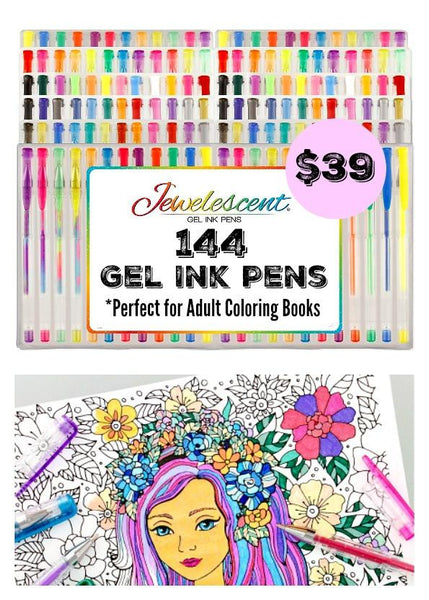 Ultimate Art Set 144 Gel Pens For Adult Coloring Books & More - GoGetGlam Boho Style