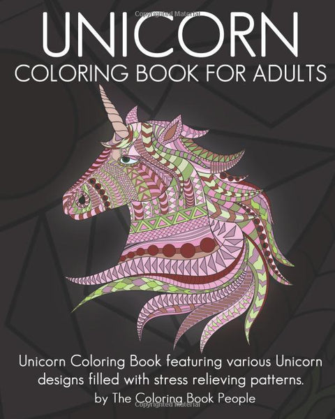Unicorn Coloring Book for Adults Who Color - GoGetGlam Boho Style
