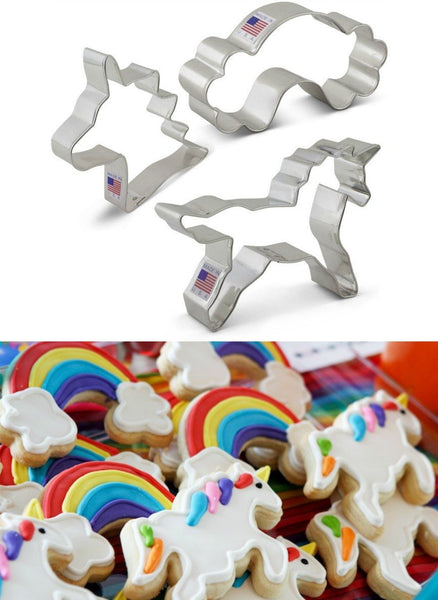 Unicorn & Rainbow Cookie Cutter SET - GoGetGlam Boho Style