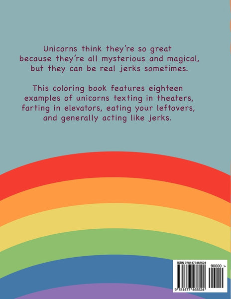 Unicorns Are Jerks Adult Coloring Book - GoGetGlam Boho Style