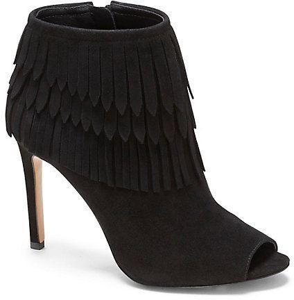 Vince Camuto VC Signature Women's Yulia Brown Suede Fringe Boot Bootie-GoGetGlam