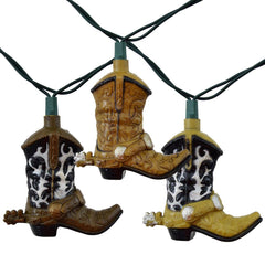 Western Cowboy Boots Party String Lights, 10 FT-GoGetGlam