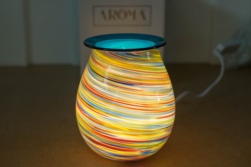"Mouthblown ""Art Glass"" Electric Wax Warmer by Aromatize"