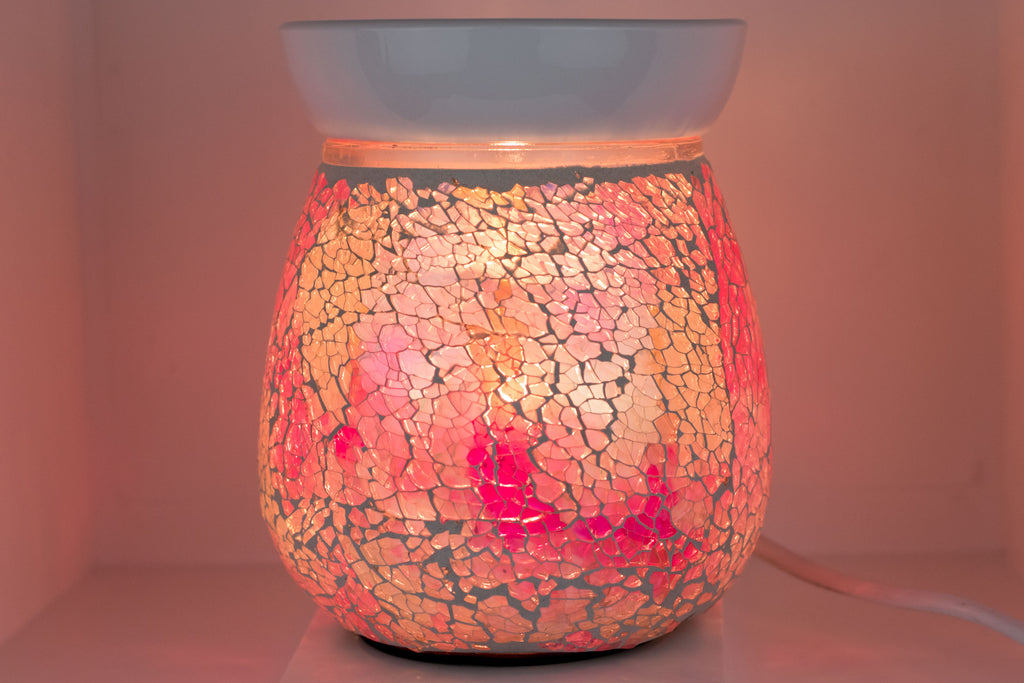 Pink Mosaic Electric Wax Warmer by Aromatize