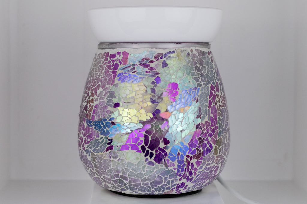 Purple Mosaic Electric Wax Warmer by Aromatize